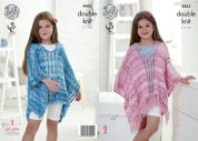 King Cole Girls Ponchos Vogue Knitting Pattern 4463  DK