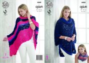 King Cole Ladies Poncho, Cape & Snood Opium Knitting Pattern 4468