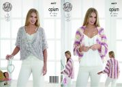 King Cole Ladies Bolero Shrug & Sweater Opium Knitting Pattern 4477