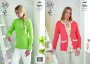 King Cole Ladies Cardigan & Sweater Bamboo Cotton Knitting Pattern 4480  4 Ply