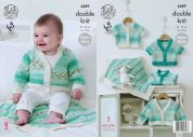 King Cole Baby Raglan Cardigans & Blanket Drifter for Baby Knitting Pattern 4489  DK