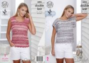 King Cole Ladies Tops Vogue Crochet Pattern 4494  DK
