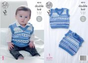King Cole Baby Tank Tops Cherish Knitting Pattern 4515  DK