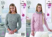 King Cole Ladies Cardigan & Sweater Authentic Knitting Pattern 4525  DK