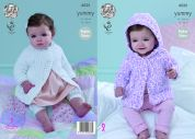 King Cole Baby Raglan Sleeve Jackets Yummy Knitting Pattern 4535  Chunky