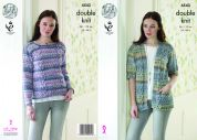 King Cole Ladies Cardigan & Sweater Drifter Knitting Pattern 4543  DK