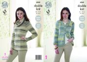 King Cole Ladies Raglan Sleeve Cardigan & Sweater Drifter Knitting Pattern 4545  DK