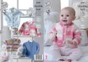 King Cole Baby Hoodie, Cardigans & Sweater Knitting Pattern 4548  DK