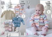 King Cole Baby Cardigan, Gilet & Sweaters Knitting Pattern 4550  DK