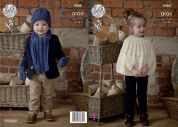 King Cole Childrens Cape, Hat, Scarf & Mittens Fashion Knitting Pattern 4560  Aran