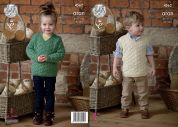 King Cole Childrens Sweater & Slipover Fashion Knitting Pattern 4562  Aran