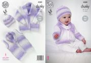 King Cole Baby Cardigan, Waistcoat & Hat Big Value Baby Soft Knitting Pattern 4580  Chunky