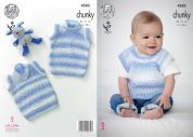 King Cole Baby Slipovers Big Value Baby Soft Knitting Pattern 4583  Chunky