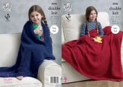 King Cole Home Blanket & Teddy Bear Toy Embrace Knitting Pattern 4586  DK