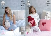 King Cole Home Cushion & Hot Water Bottle Covers Embrace Knitting Pattern 4596  DK