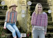 King Cole Ladies Capes Drifter Knitting Pattern 4604  Chunky