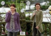King Cole Ladies Cardigan & Coatigan Big Value Twist Knitting Pattern 4610  Super Chunky