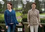 King Cole Ladies Sweater & Cardigan Big Value Twist Knitting Pattern 4611  Super Chunky
