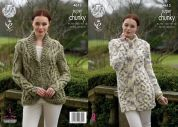 King Cole Ladies Cardigan & Coatigan Big Value Twist Knitting Pattern 4613  Super Chunky