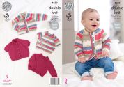 King Cole Baby Cardigans & Sweaters Comfort Prints Knitting Pattern 4620  DK