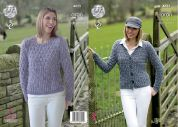 King Cole Ladies Cardigan & Sweater Fashion Combo Knitting Pattern 4625  Aran