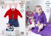 King Cole Baby Jackets & Blanket Cherished Knitting Pattern 4647  DK