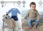 King Cole Baby Sweaters & Blankets Cherished Knitting Pattern 4649  DK