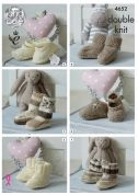 King Cole Baby Socks, Booties & Shoes Cherished Knitting Pattern 4652  DK