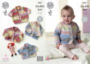 King Cole Baby Cardigans Splash Knitting Pattern 4657  DK