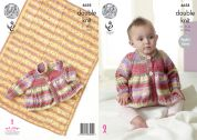 King Cole Baby Jacket & Blanket Splash Knitting Pattern 4658  DK