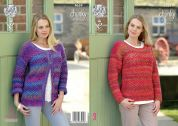 King Cole Ladies Cardigan & Sweater Corona Knitting Pattern 4659  Chunky