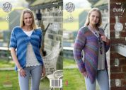 King Cole Ladies Cardigans Corona Knitting Pattern 4661  Chunky