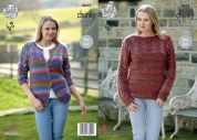 King Cole Ladies Cardigan & Sweater Corona Knitting Pattern 4663  Chunky