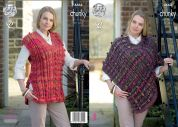 King Cole Ladies Cape & Tabard Top Corona Knitting Pattern 4664  Chunky