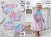 King Cole Baby Cardigans & Sweaters Melody Knitting Pattern 4673  DK