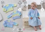 King Cole Baby Cardigans & Sweater Melody Knitting Pattern 4674  DK