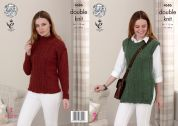 King Cole Ladies Sweater & Tunic Top Panache Knitting Pattern 4686  DK