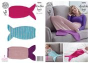King Cole Baby, Girls & Ladies Mermaid Blankets Knitting Pattern 4692  DK