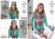 King Cole Ladies Scarves, Hat, Gloves, Headband & Neck Warmer Sprite Knitting Pattern 4694  DK