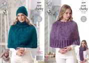 King Cole Ladies Capes, Hats, Scarf & Snood Big Value Twist Knitting Pattern 4699  Super Chunky
