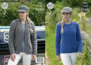 King Cole Ladies Cardigan & Sweater Big Value Knitting Pattern 4708  Super Chunky