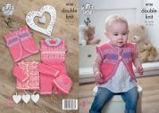 King Cole Baby Cardigan, Waistcoat, Playsuit & Hat Comfort Knitting Pattern 4730  DK