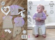 King Cole Baby Cardigans, Dress & Leggings Comfort Knitting Pattern 4732  DK