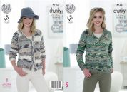 King Cole Ladies Sweater & Cardigan Big Value Knitting Pattern 4733  Chunky