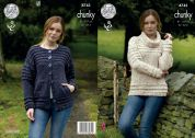 King Cole Ladies Cardigan & Sweater Tweed Knitting Pattern 4743  Chunky