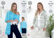King Cole Ladies Cardigan & Shawl Vogue Knitting Pattern 4766  DK