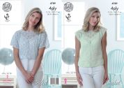 King Cole Ladies Top Giza Crochet Pattern 4789  4 Ply
