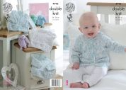 King Cole Baby Sweaters & Cardigan Smarty Knitting Pattern 4792  DK
