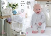 King Cole Baby Cardigans & Blanket Smarty Knitting Pattern 4794  DK