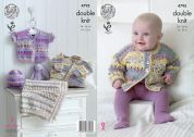 King Cole Baby Cardigans, Hat & Blanket Drifter for Baby Knitting Pattern 4795  DK